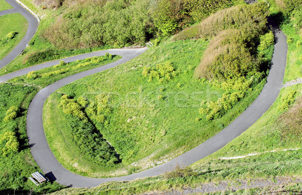 Camino ladera vista naturaleza parque superior Foto stock © speedfighter