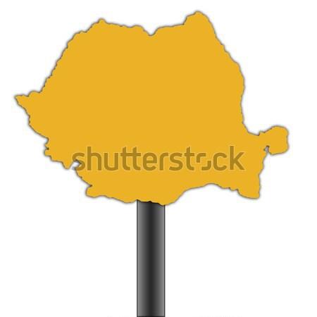 Jemen kaart verkeersbord geïsoleerd witte weg Stockfoto © speedfighter