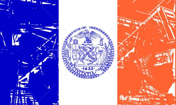 Zdjęcia stock: Nowy · Jork · banderą · USA · podróży · Ameryki · banner