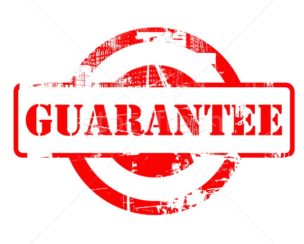 Stock photo: Guarantee red stamp
