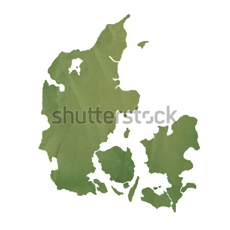 Denmark map on green paper Stock photo © speedfighter