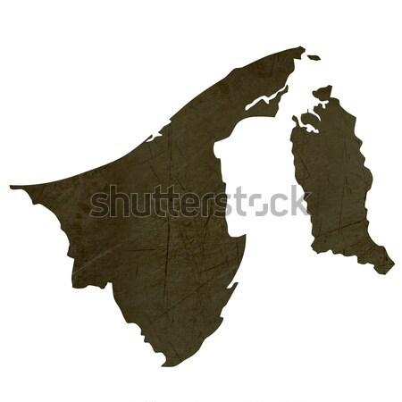 Dark silhouetted map of Brunei Stock photo © speedfighter