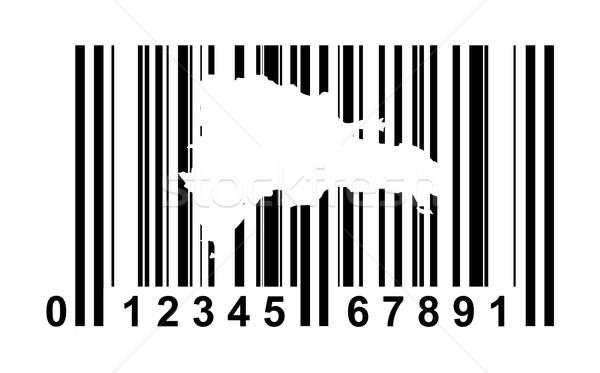 Dominicaanse Republiek streepjescode winkelen geïsoleerd witte reizen Stockfoto © speedfighter