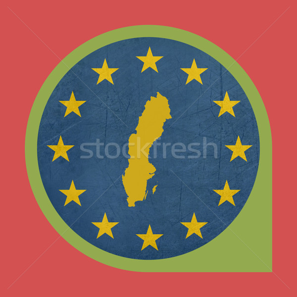 European Union Sweden marker button Stock photo © speedfighter