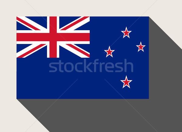 Új-Zéland zászló web design stílus gomb Stock fotó © speedfighter