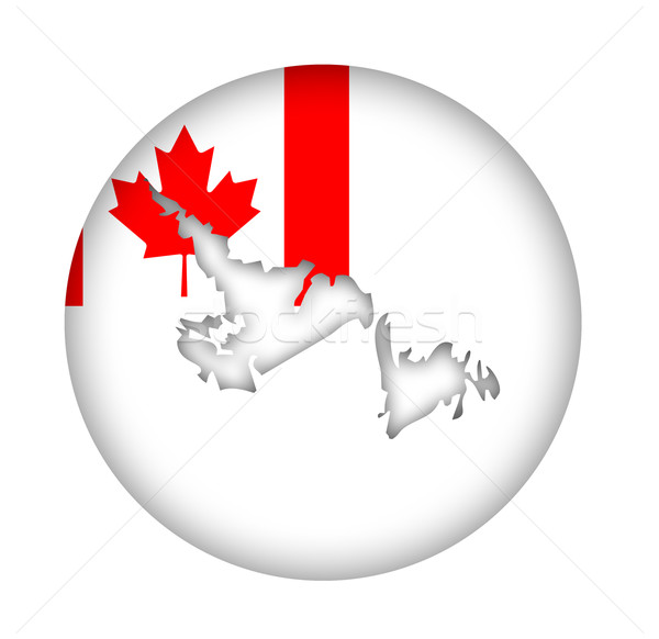 Canada Newfoundland state map flag button Stock photo © speedfighter