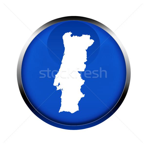 Portugália térkép gomb színek európai szövetség Stock fotó © speedfighter