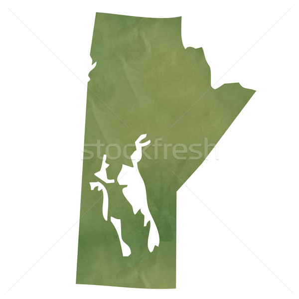 Manitoba map on green paper Stock photo © speedfighter