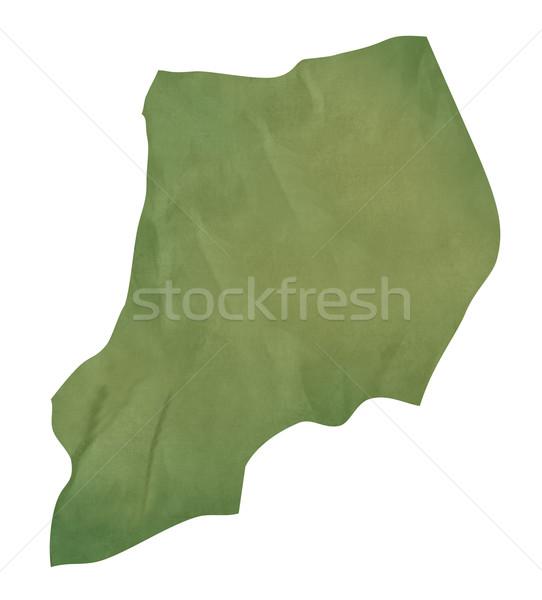 Vieux vert papier carte Ouganda isolé Photo stock © speedfighter