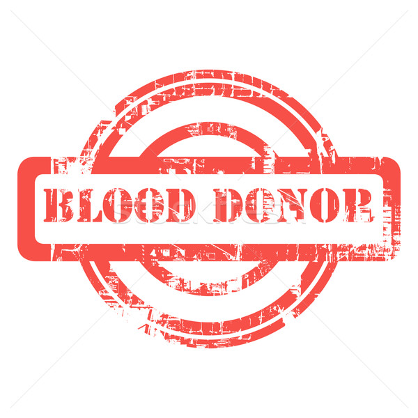 Blod donor red used grunge stamp Stock photo © speedfighter