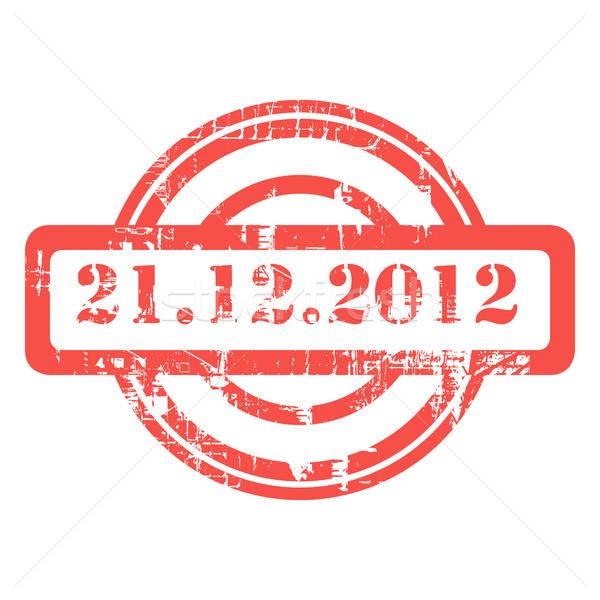 Grudzień 2012 używany czerwony grunge pieczęć Zdjęcia stock © speedfighter