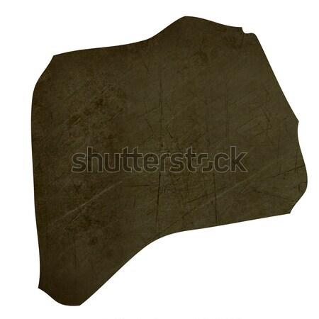 Dark silhouetted map of Burundi Stock photo © speedfighter