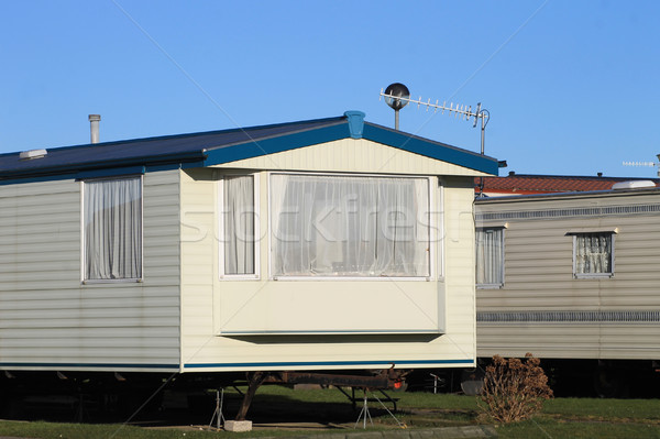 Mobile homes on a caravan park Stock photo © speedfighter