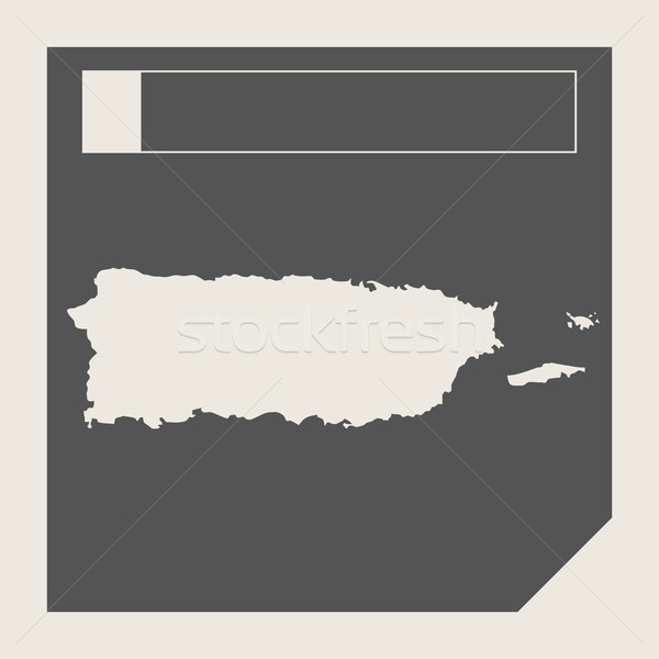 Puerto Rico carte bouton sensible web design isolé Photo stock © speedfighter