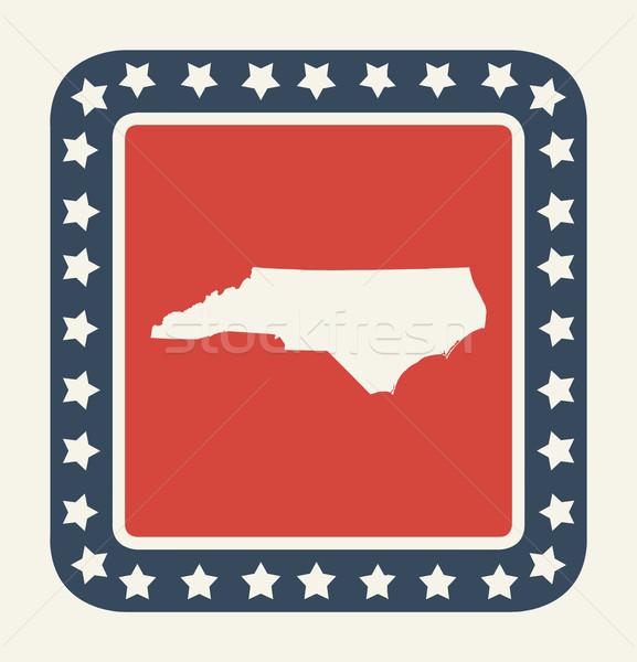 Kuzey Carolina amerikan düğme amerikan bayrağı web tasarım stil Stok fotoğraf © speedfighter
