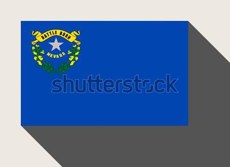 Foto stock: Americano · Nevada · bandeira · web · design · estilo · botão
