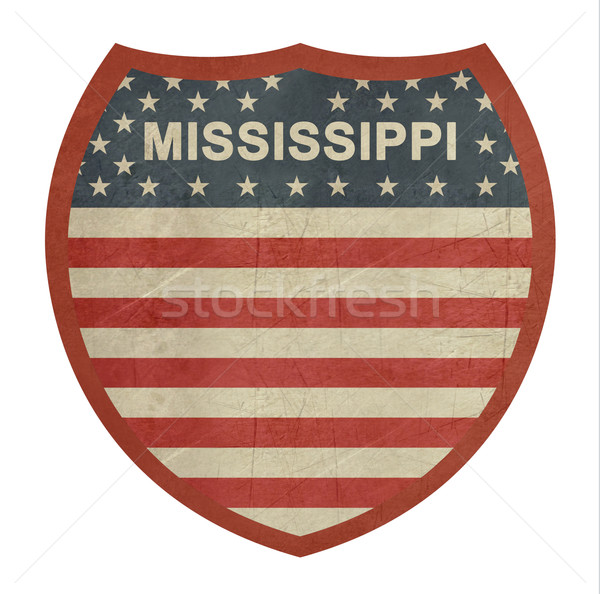 Grunge Mississippi American interstate highway sign Stock photo © speedfighter