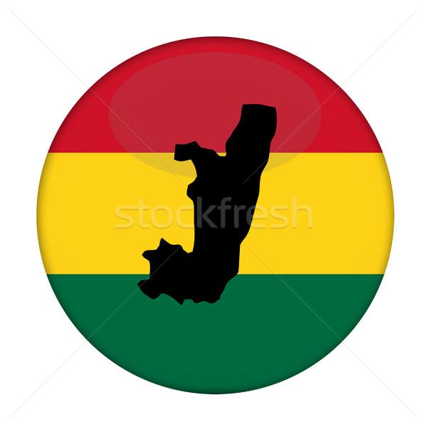 Congo mapa bandera botón blanco negocios Foto stock © speedfighter