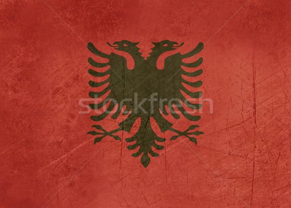 Grunge Albania bandera país oficial colores Foto stock © speedfighter