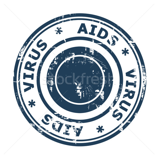 AIDS virus Stamp Stock photo © speedfighter