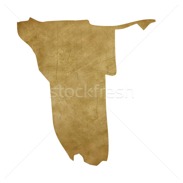 Намибия Гранж Карта сокровищ карта сокровище стиль Сток-фото © speedfighter