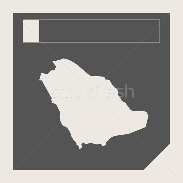 Saudi Arabia map button Stock photo © speedfighter