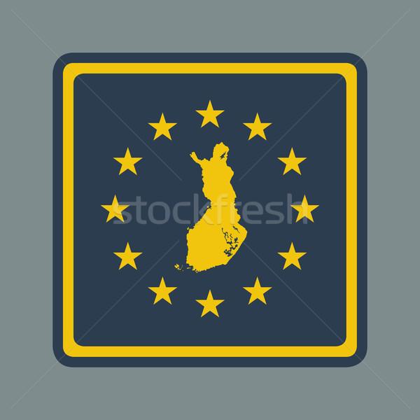 Finlandia bandiera pulsante di risposta web design Foto d'archivio © speedfighter