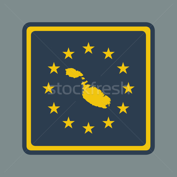 Malta europese vlag knop sympathiek web design Stockfoto © speedfighter