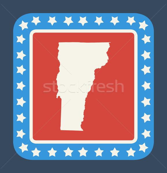 Vermont gomb amerikai zászló web design stílus izolált Stock fotó © speedfighter
