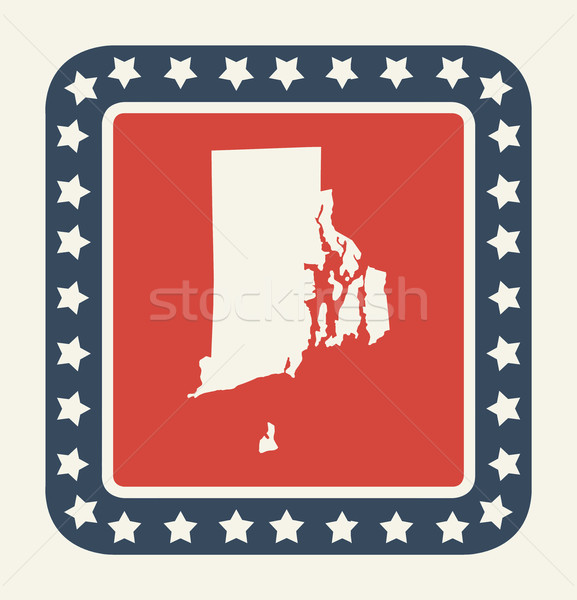 Rhode Island americano botão bandeira americana web design estilo Foto stock © speedfighter