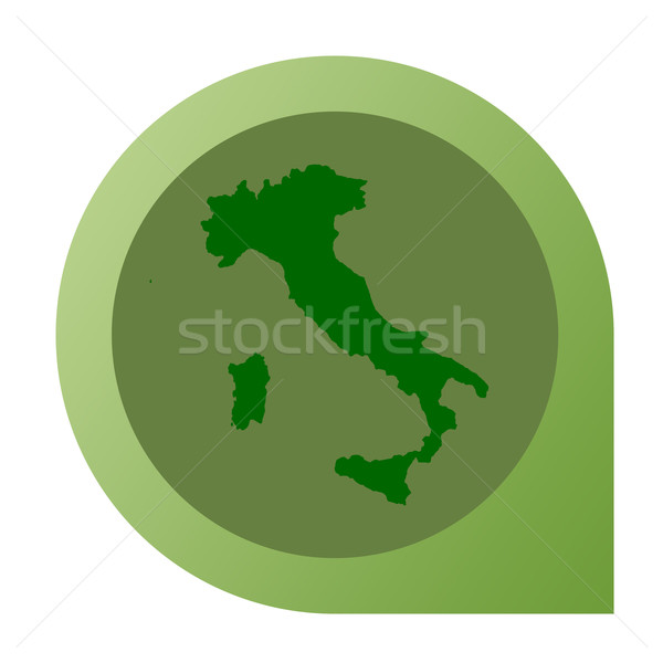 Isolated Italy map marker pin Stock photo © speedfighter