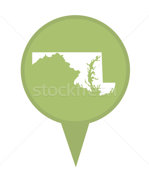 Maryland Pokaż pin amerykański znacznik odizolowany Zdjęcia stock © speedfighter