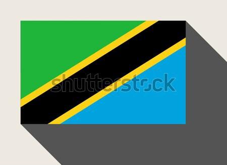 Танзания флаг веб-дизайна стиль карта кнопки Сток-фото © speedfighter