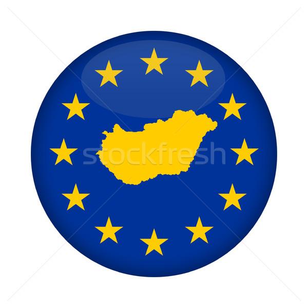 Hungary map European Union flag button Stock photo © speedfighter