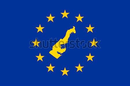 Suécia europeu bandeira mapa união amarelo Foto stock © speedfighter