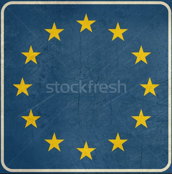Grunge Blank European sign Stock photo © speedfighter