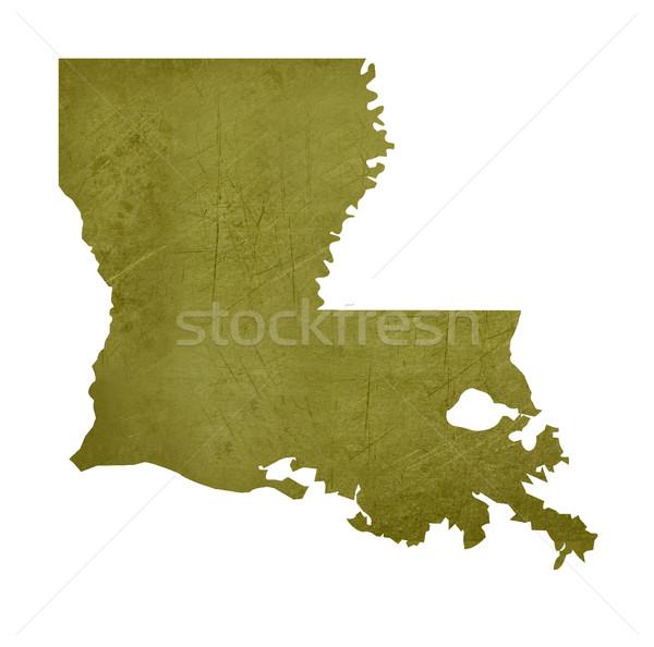 Louisiana amerikai izolált fehér vágási körvonal térkép Stock fotó © speedfighter