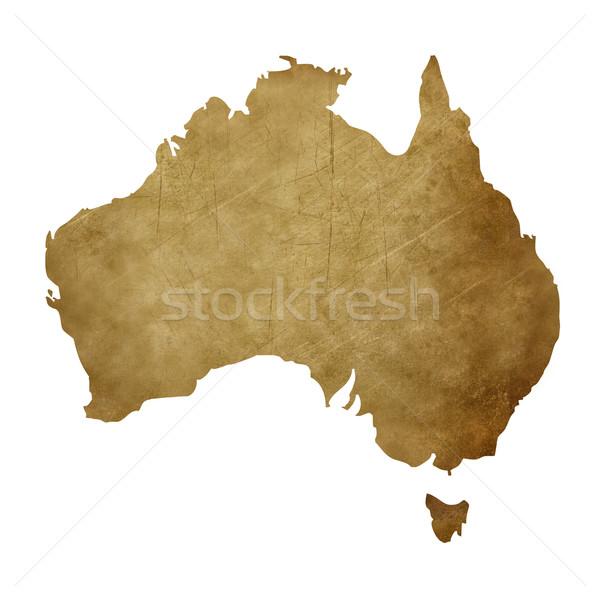 Grunge Australia treasure map Stock photo © speedfighter