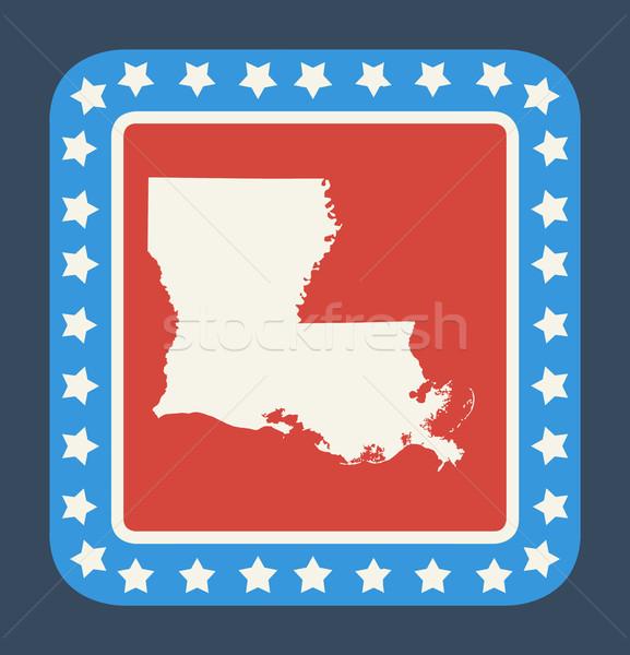 Луизиана кнопки американский флаг веб-дизайна стиль изолированный Сток-фото © speedfighter