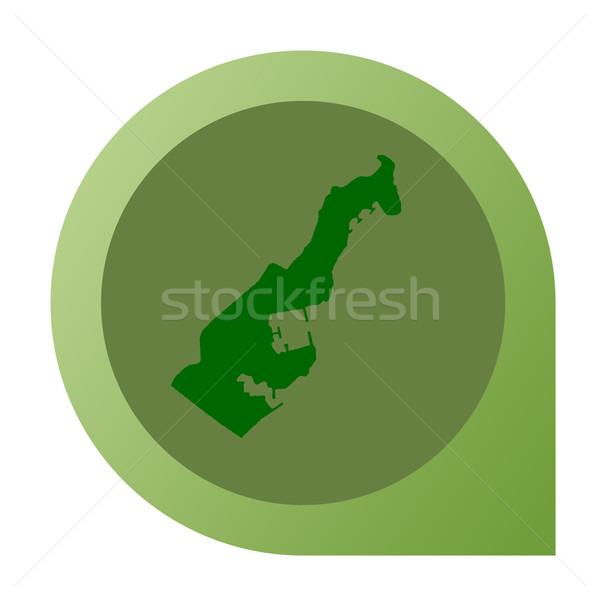 Odizolowany Monaco Pokaż znacznik pin web design Zdjęcia stock © speedfighter