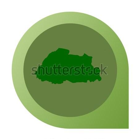 Isolated Slovakia map marker pin Stock photo © speedfighter