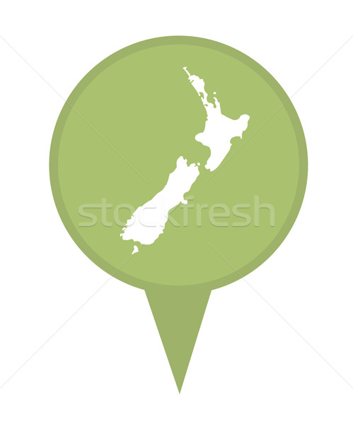 Stock photo: New Zealand map marker pin