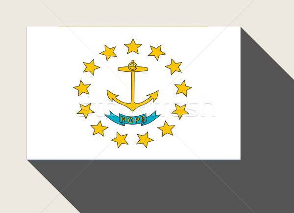 Americano Rhode Island bandeira web design estilo botão Foto stock © speedfighter