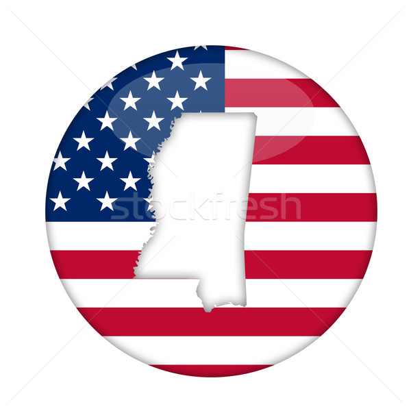 Mississippi state of America badge Stock photo © speedfighter