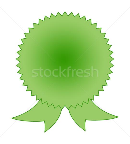 Blank green rosette award Stock photo © speedfighter