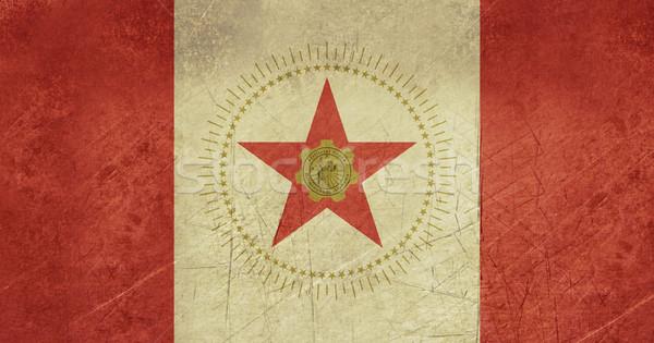 Grunge Birmingham város zászló Alabama USA Stock fotó © speedfighter