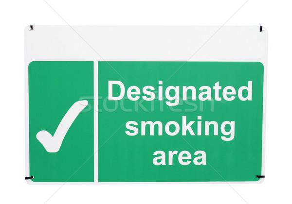 ストックフォト: 喫煙 · にログイン · 孤立した · 白 · 業界 · たばこ