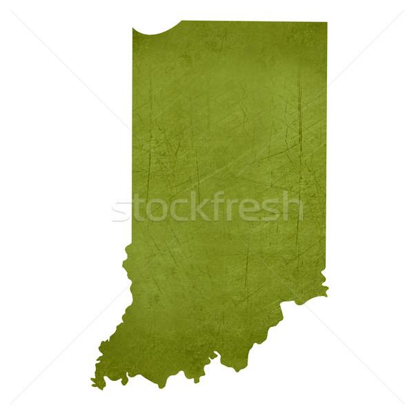 Indiana amerikaanse geïsoleerd witte kaart Stockfoto © speedfighter