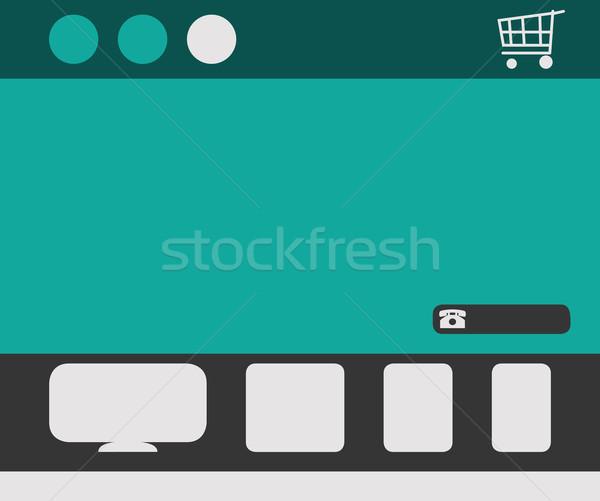 Sensible diseno web plantilla iconos cesta de la compra Foto stock © speedfighter