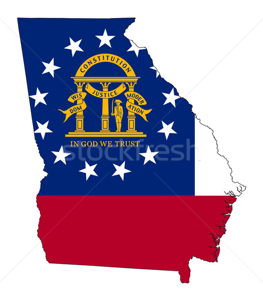 State of Georgia flag map Stock photo © speedfighter